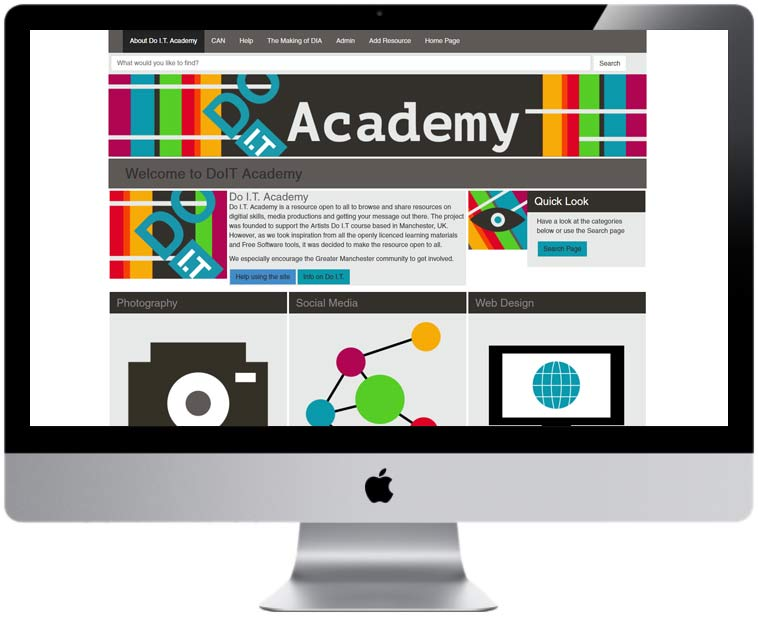 DoIT Academy finished website